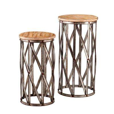 Baltimore Antique Silver End Table (Set of 2)