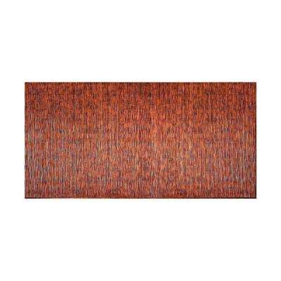 Ripple Vertical 96 in. x 48 in. Decorative Wall Panel in Moonstone Copper