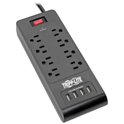Protect It 8-Outlet Surge Protector with 4 USB Ports