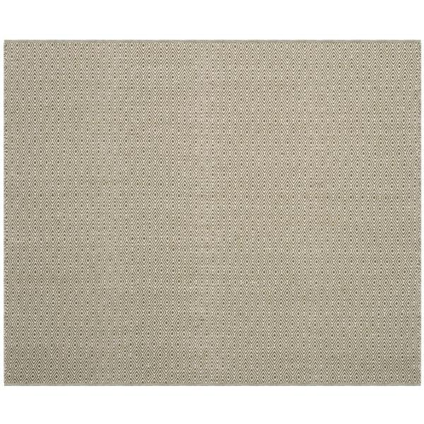 Montauk Ivory/Green 6 ft. x 6 ft. Square Area Rug