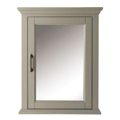 Charleston 24 in. W x 30 in. H x 7-1/2 in. D Framed Bathroom Medicine Cabinet in Grey