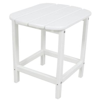 South Beach 18 in. White Patio Side Table