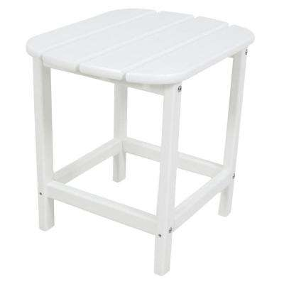 White Patio Side Table