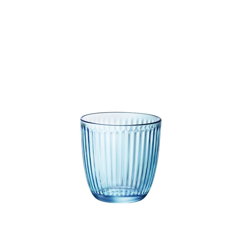 9 75 oz  Lively Blue Line Water Tumbler (Set of 12)