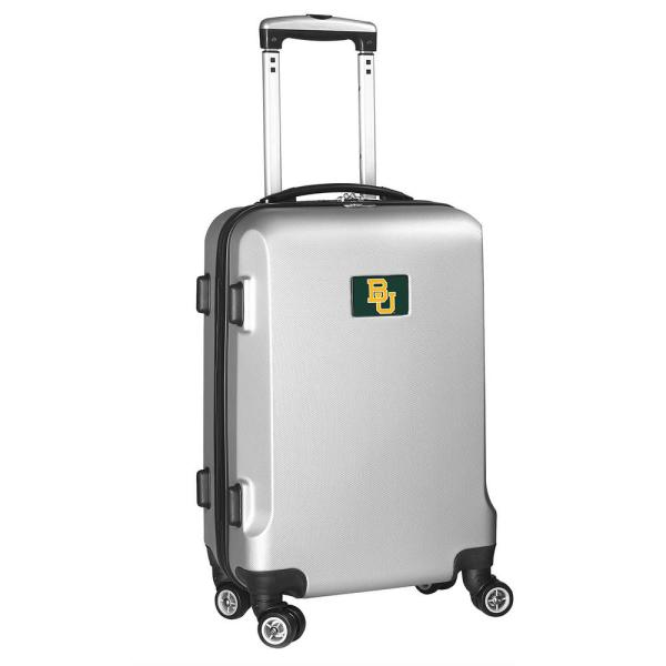 Denco NCAA Baylor Silver 21 in. Carry-On Hardcase Spinner Suitcase