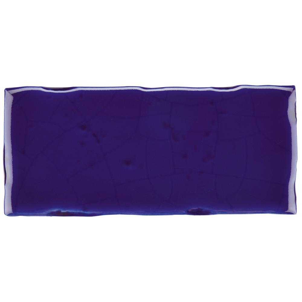 Merola Tile Novecento Subway Cobalto 2-1/2 in. x 5-1/8 in. Ceramic Wall Tile (6.16 sq. ft. / case)