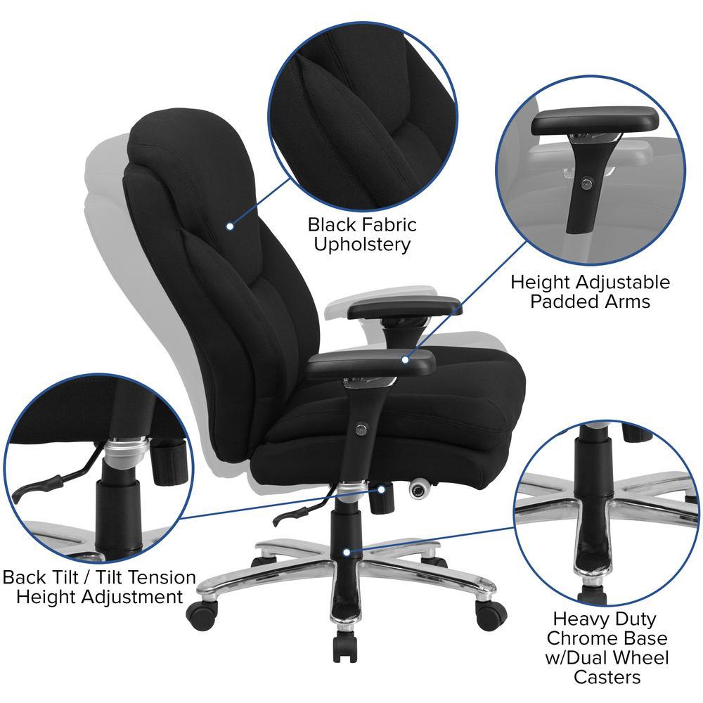 Carnegy Avenue Black Fabric Metal Office Desk Chair Cga Go