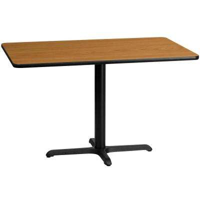 30 in. x 48 in. Rectangular Natural Laminate Table Top with 22 in. x 30 in. Table Height Base
