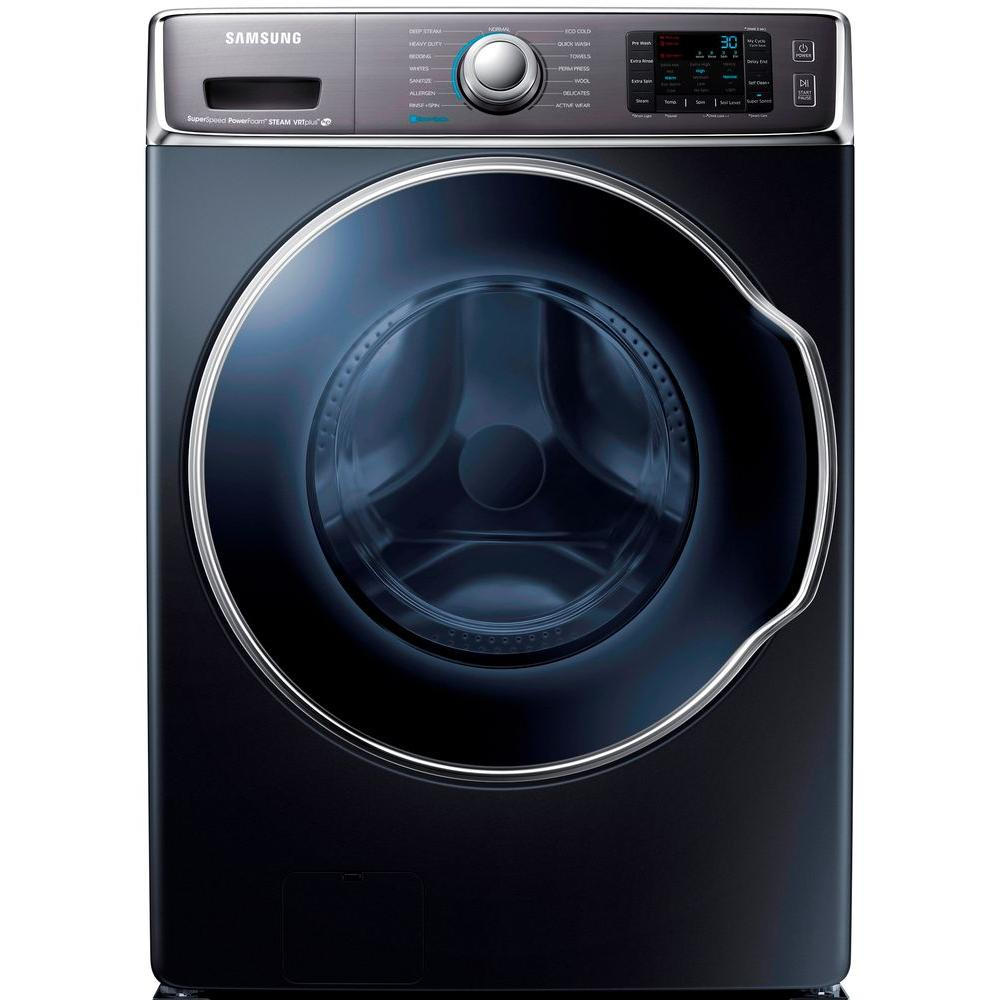 Samsung 30 in. W 5.6 cu. ft. High-Efficiency Front Load Washer with Steam in Onyx