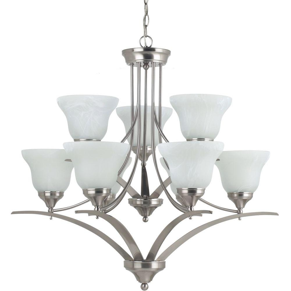 Sea Gull Lighting Brockton 9-Light Brushed Nickel Chandelier