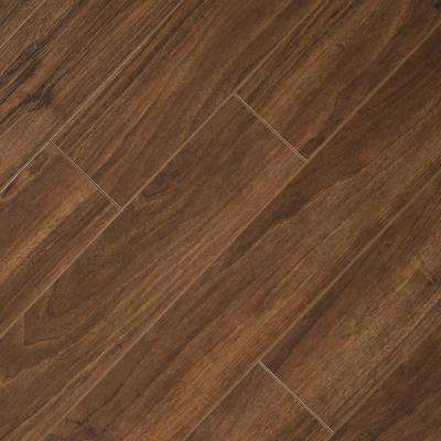 Hand Scraped Walnut Plateau 8 mm Thick x 5-9/16 in. Wide x 47-3/4 in. Length Laminate Flooring (738 sq. ft. / pallet)