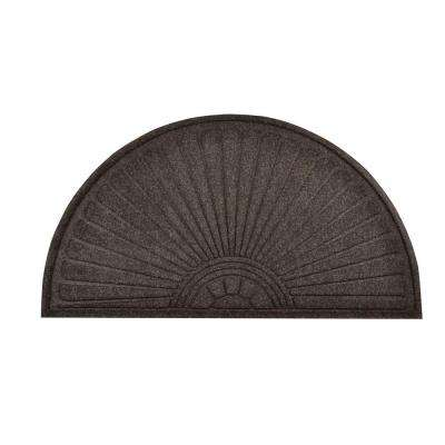Guzzler Sunburst Charcoal 36 in. x 70 in. Rubber-Backed Entrance Mat