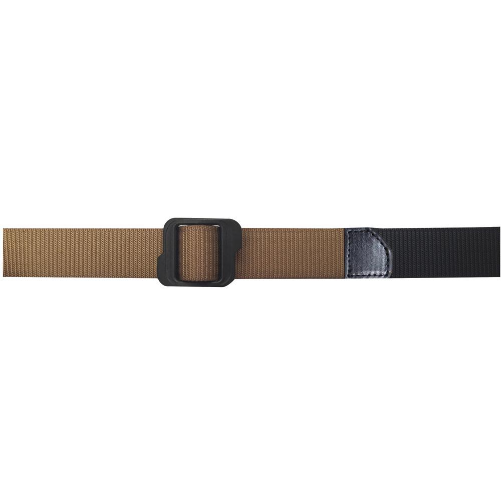 Men's Size 34 Khaki/Black Reversible Nylon Tactical Belt