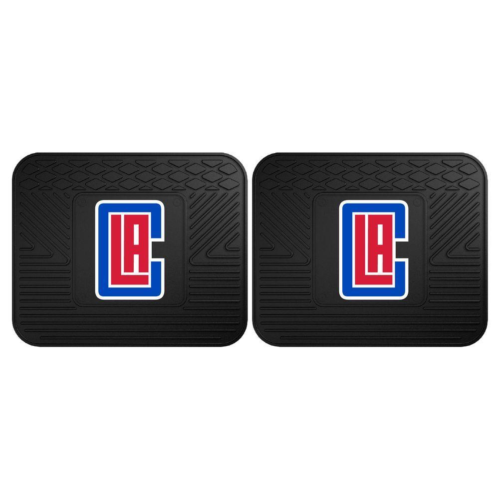 Fanmats Nba Los Angeles Clippers Black Heavy Duty 2 Piece