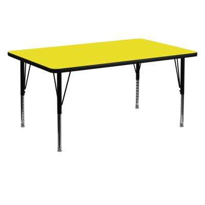 Yellow Kids Table