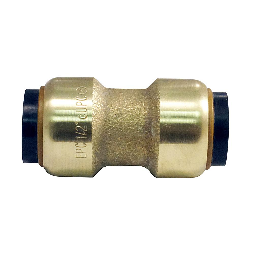 Push To Connect Fittings >> Tectite 1 2 In Brass Push To Connect Coupling