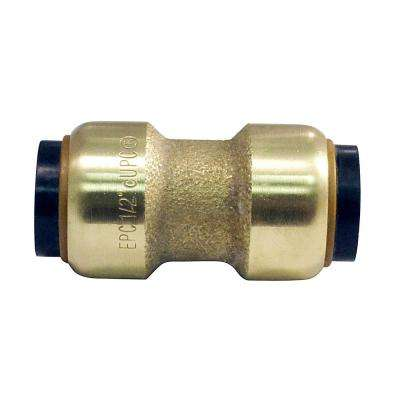 1/2 in. Brass Push-to-Connect Coupling