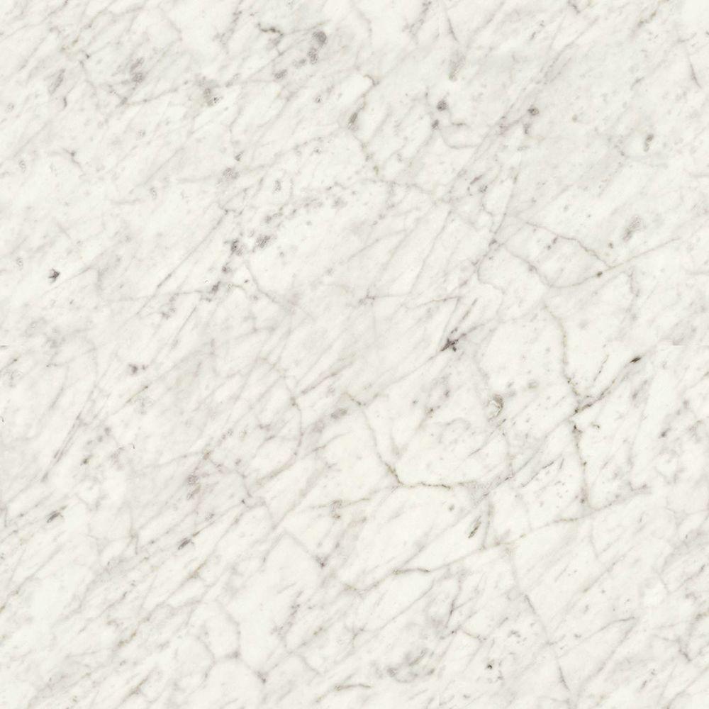 4 ft. x 8 ft. Laminate Sheet in Carrara Bianco with Matte Finish