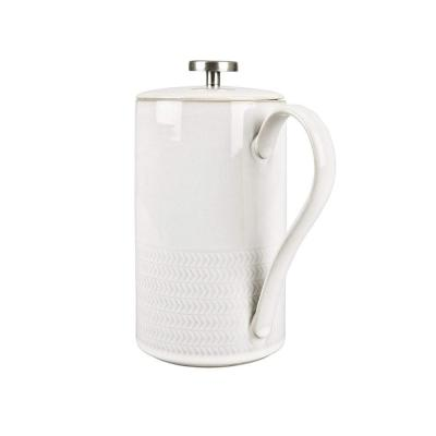 Natural Canvas Textured French Press