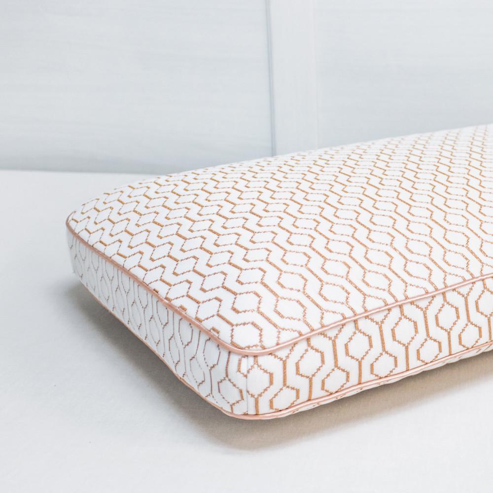 e7abb7428daf SensorPEDIC Copper Infused Memory Foam Oversized Gusset Bed Pillow ...