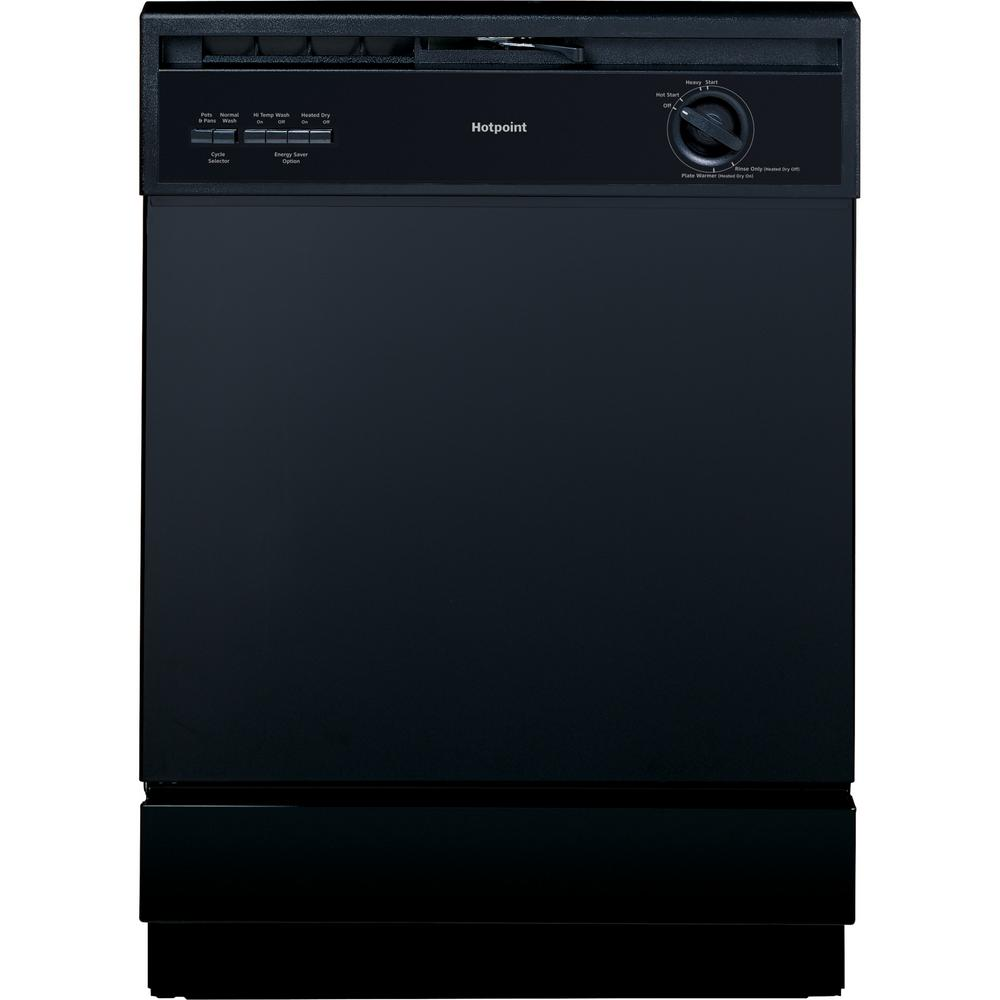 Hotpoint Front Control Dishwasher in Black, 62 dBA