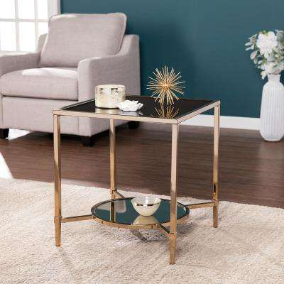Perla Champagne with Black Art Deco End Table