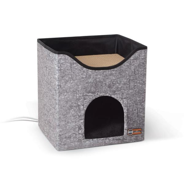 12 in. x 14 in. x 15 in. Classy Gray Thermo-Kitty Playhouse 4W