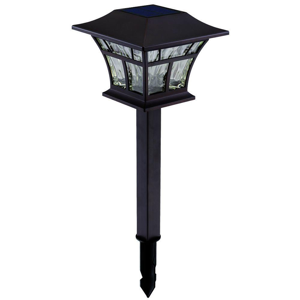 hampton bay solar mediterranean bronze outdoor integrated led