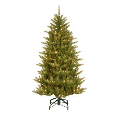 4.5 ft. Natural Fraser Slim Artificial Christmas Tree with Clear Lights