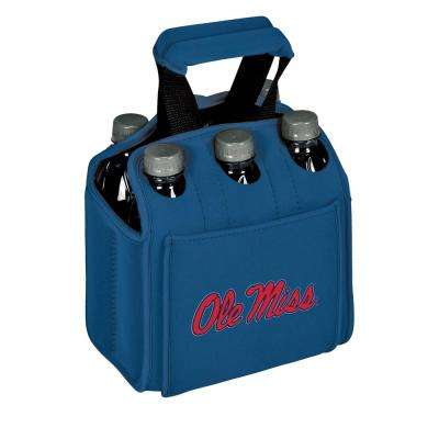 University of Mississippi Rebels 6-Bottles Blue Beverage Carrier