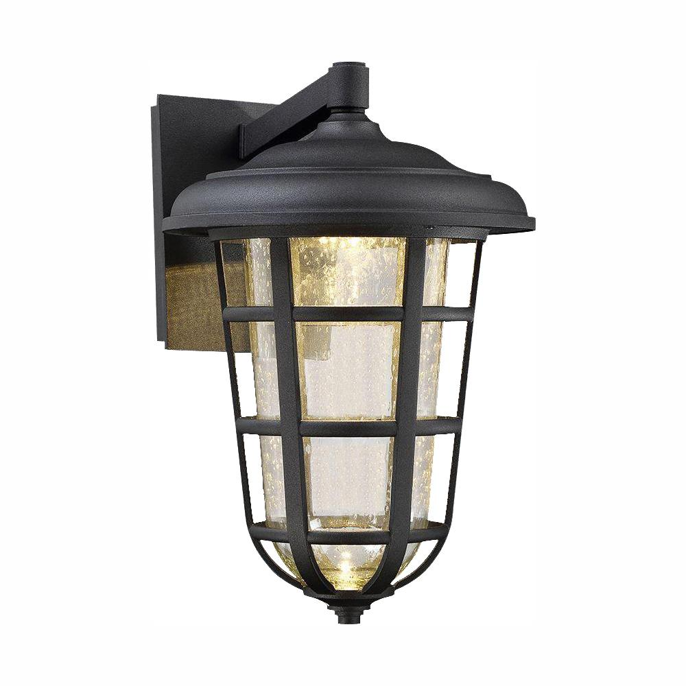 Designers Fountain Triton Black Outdoor Integrated LED Wall Sconce