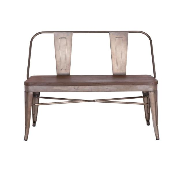 Poly and Bark Trattoria Bench with Elm Wood Seat