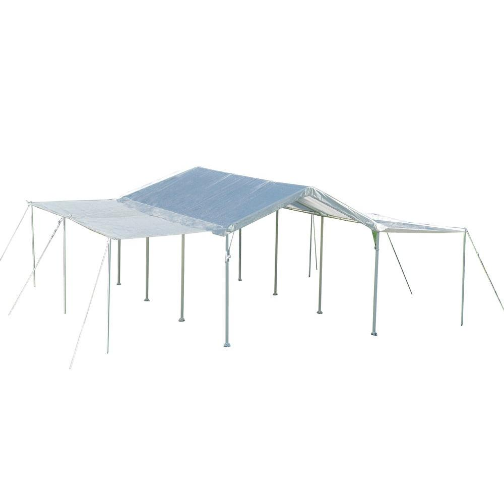 2-in-1 White Canopy with Extension Kit-23530 - The Home Depot  sc 1 st  Home Depot & ShelterLogic Max AP 10 ft. x 20 ft. 2-in-1 White Canopy with ...