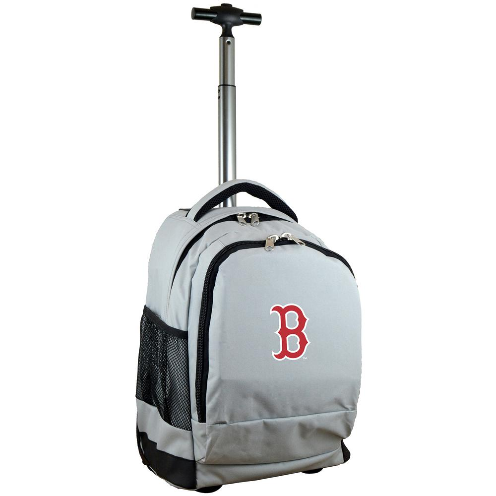 MLB Boston Red Sox 19 in. Gray Wheeled Premium Backpack