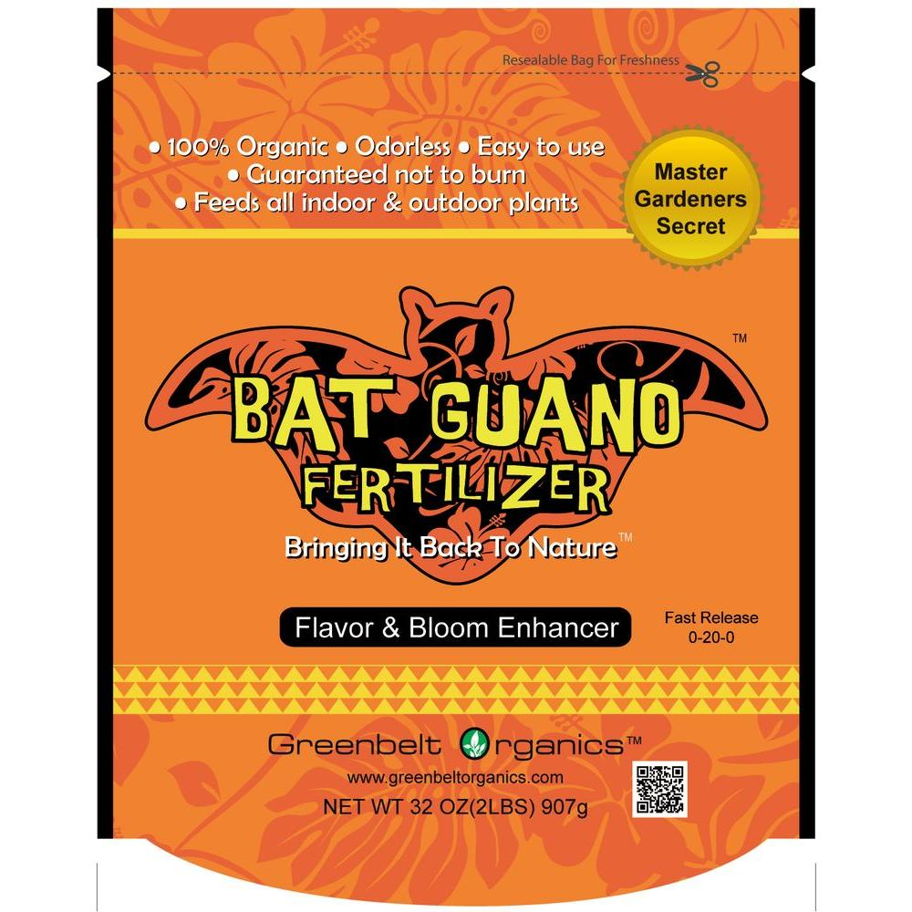 Greenbelt Organics Bat Guano 2 lb. Organic Powder Fertilizer Bag