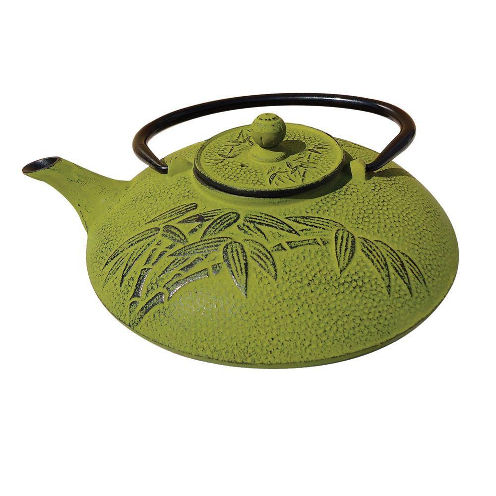 Positivity Teapot in Moss Green