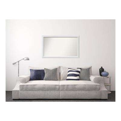 29 in. x 48 in. Blanco White Wood Framed Mirror