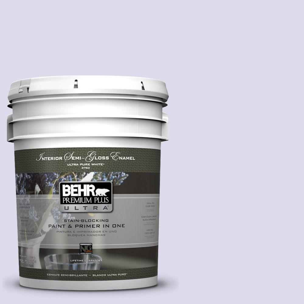 5-gal. #640A-2 Misty Violet Semi-Gloss Enamel Interior Paint