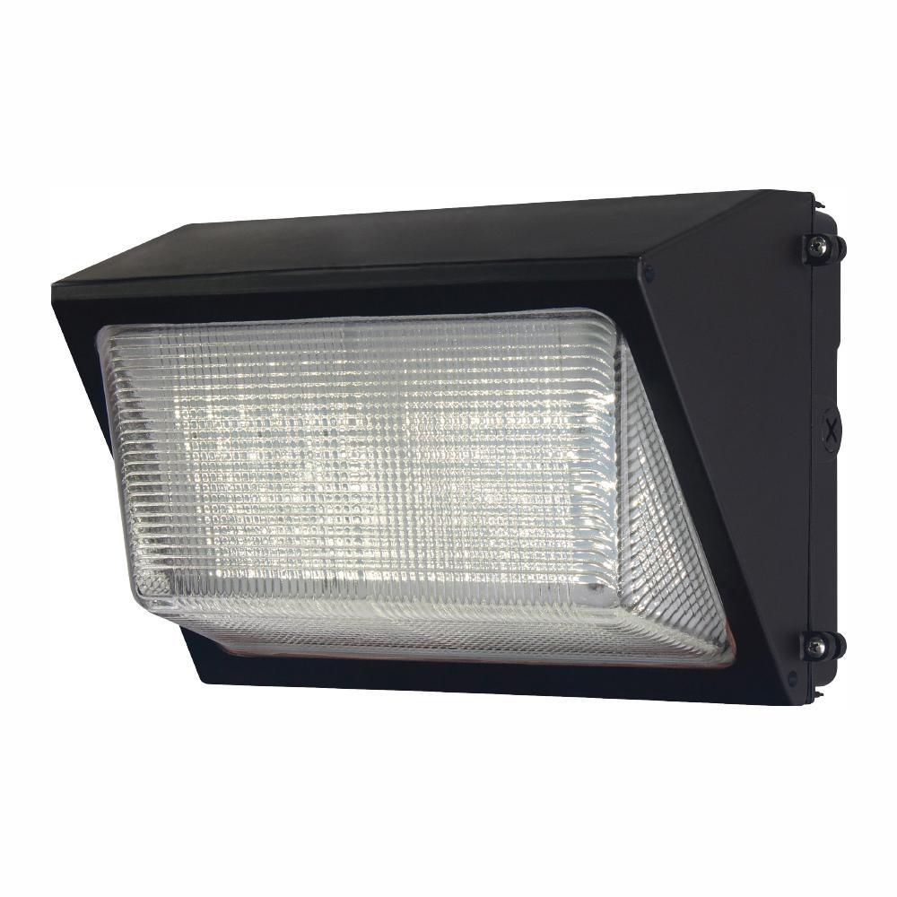 High-Output 50-Watt LED Bronze Wall Pack 6800 Lumens, Dusk to Dawn Outdoor Light