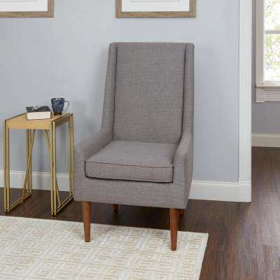Nelson Light Grey High Back Mid Century Modern Accent Chair