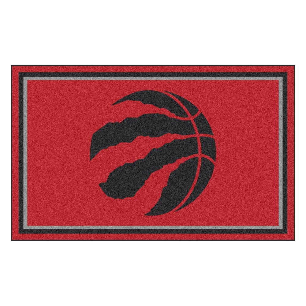FANMATS NBA - Toronto Raptors Red 4 ft. x 6 ft. Area Rug