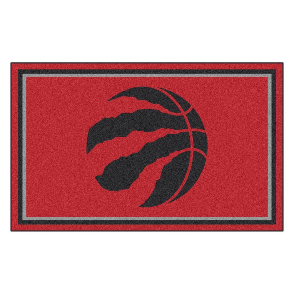 NBA - Toronto Raptors Red 4 ft. x 6 ft. Area Rug