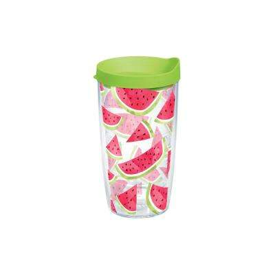 Watermelon Slice Trend 16 oz. Clear Tumbler with Lid