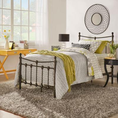 Gable Dark Brown Twin Bed Frame