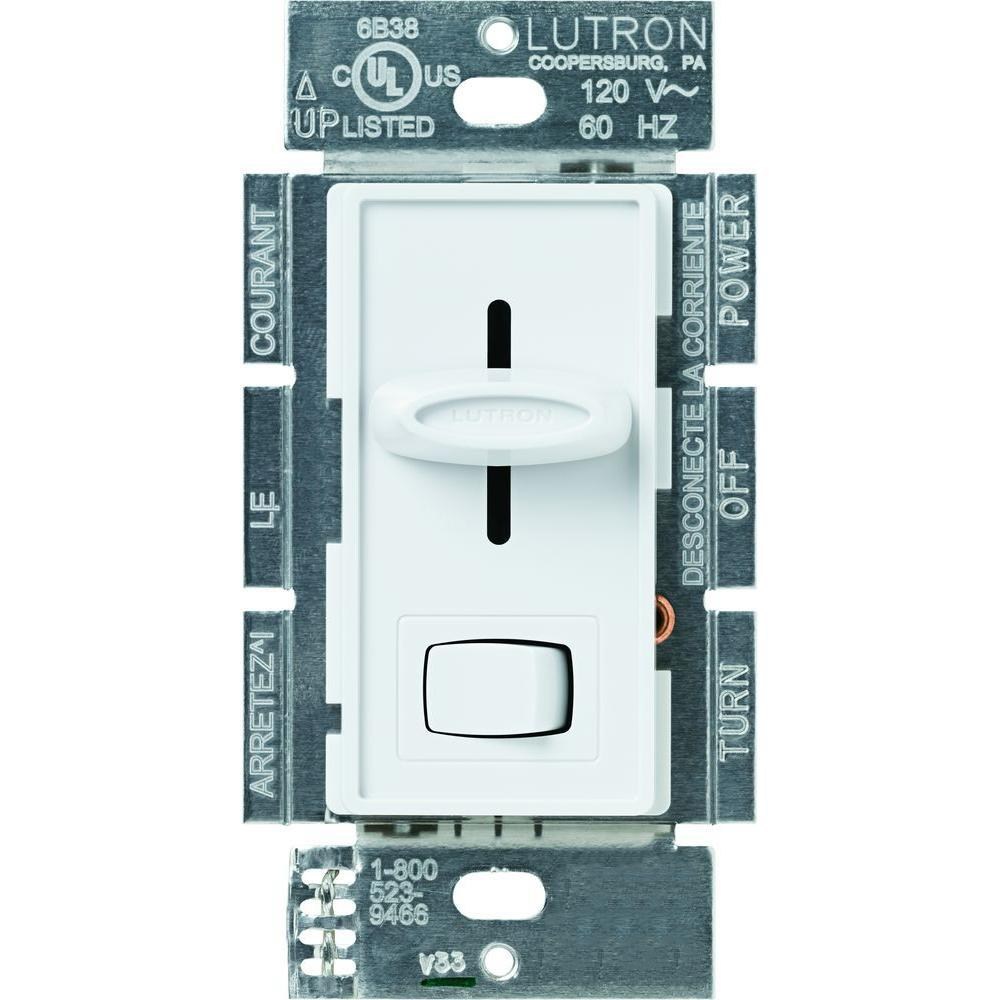 white lutron dimmers s 10p wh 64_1000 lutron skylark 1000 watt single pole preset dimmer white s 10p lutron fd-12 wiring diagram at gsmportal.co