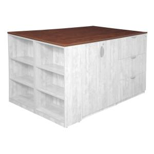Legacy Cherry Stand Up Quad with Bookcase End Top