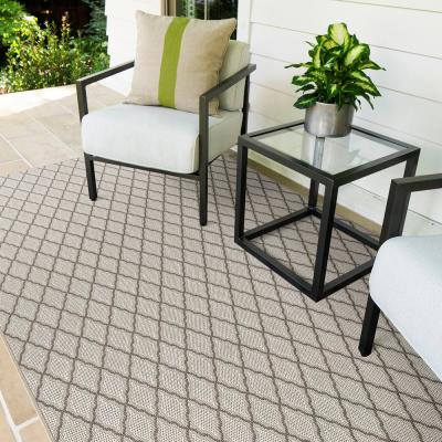 Peyton Shell 10 ft. x 14 ft. Trellis Indoor/Outdoor Area Rug