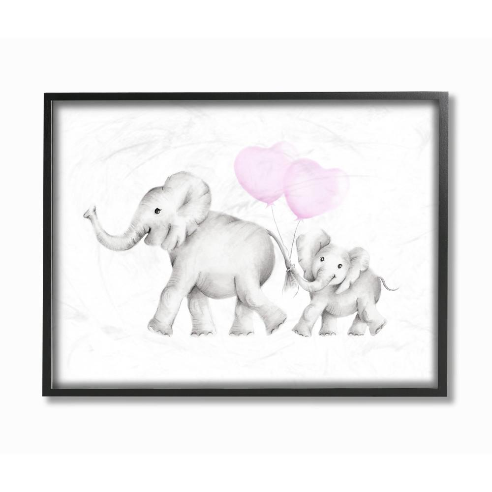 Classy Art 22 In X 26 African Elephant By Vivian Flasch Charger With Electrical Outlet Blacktr7740bkbox The Home Depot 11 14 Mama And Baby Elephants