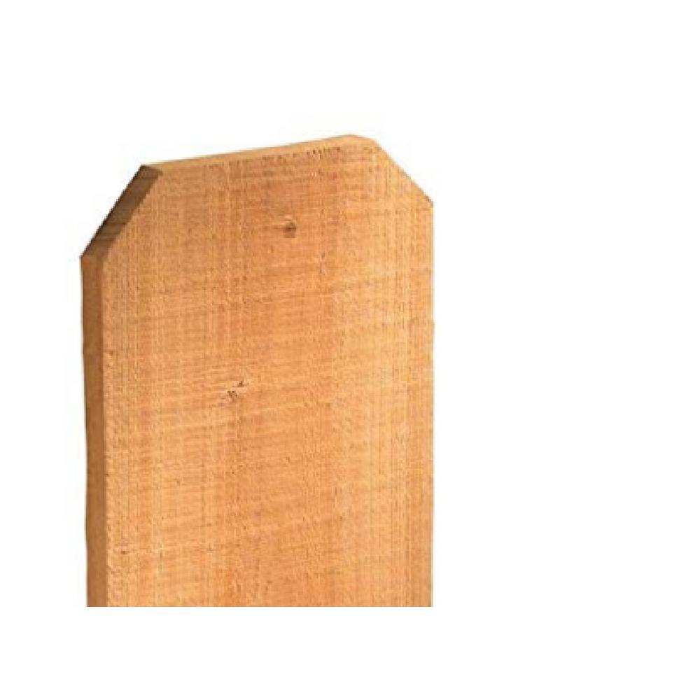 5/8 in. x 3-1/2 in. x 6 ft. Red Western Cedar Dog-Ear Fence Picket