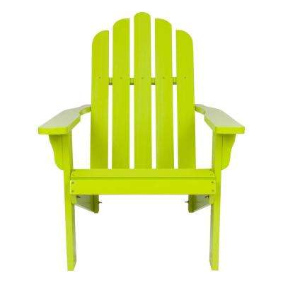 Marina Cedar Wood Adirondack Chair - Lime Green
